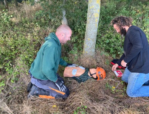 Longacre Tree Surgery get qualified in Forestry First Aid